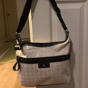 White and Black Merona shoulder bag